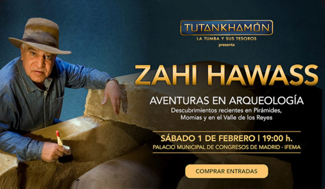 Zahi Hawass en Madrid 1-2-2020